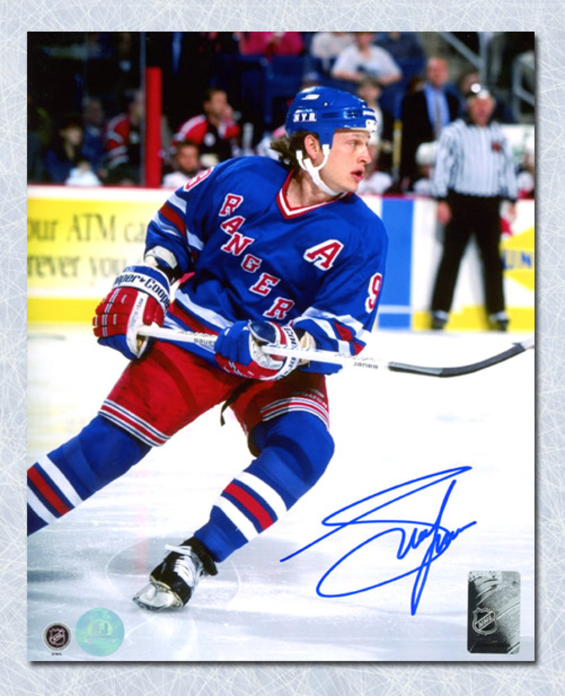 Adam Graves New York Rangers Autographed Game Action 8x10 Photo