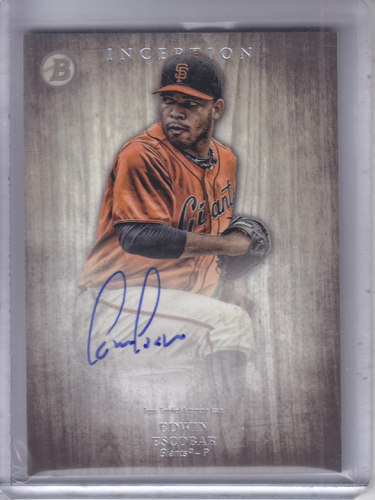 Photo of 2014 Bowman Inception Prospect Autographs #PAEE Edwin Escobar