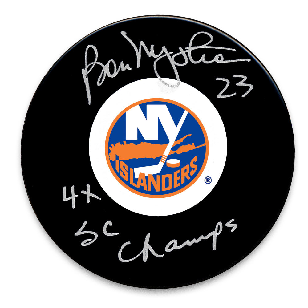 Bob Nystrom New York Islanders 4x SC Champs Autographed Puck