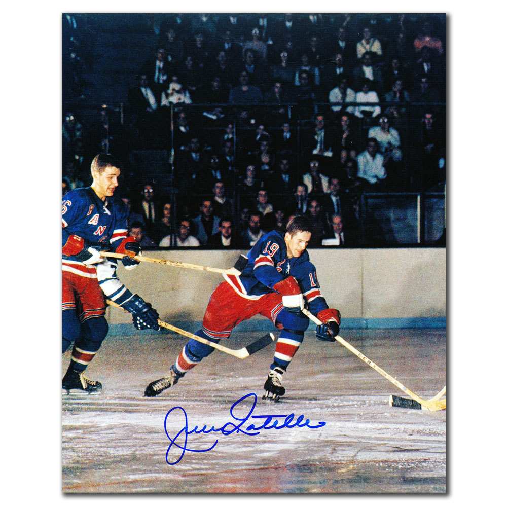Jean Ratelle New York Rangers ACTION Autographed 8x10
