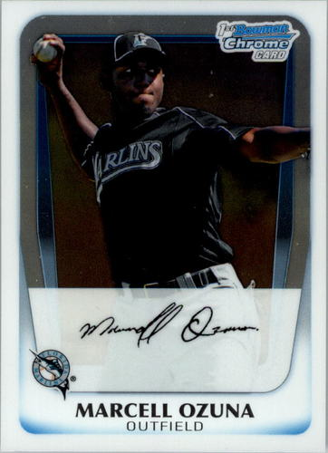Photo of 2011 Bowman Chrome Prospects #BCP36 Marcell Ozuna Pre-Rookie Card