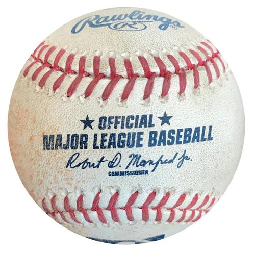 Photo of Game-Used Baseball from Pirates vs. Brewers on 7/20/16 - Jonathan Villar RBI Single