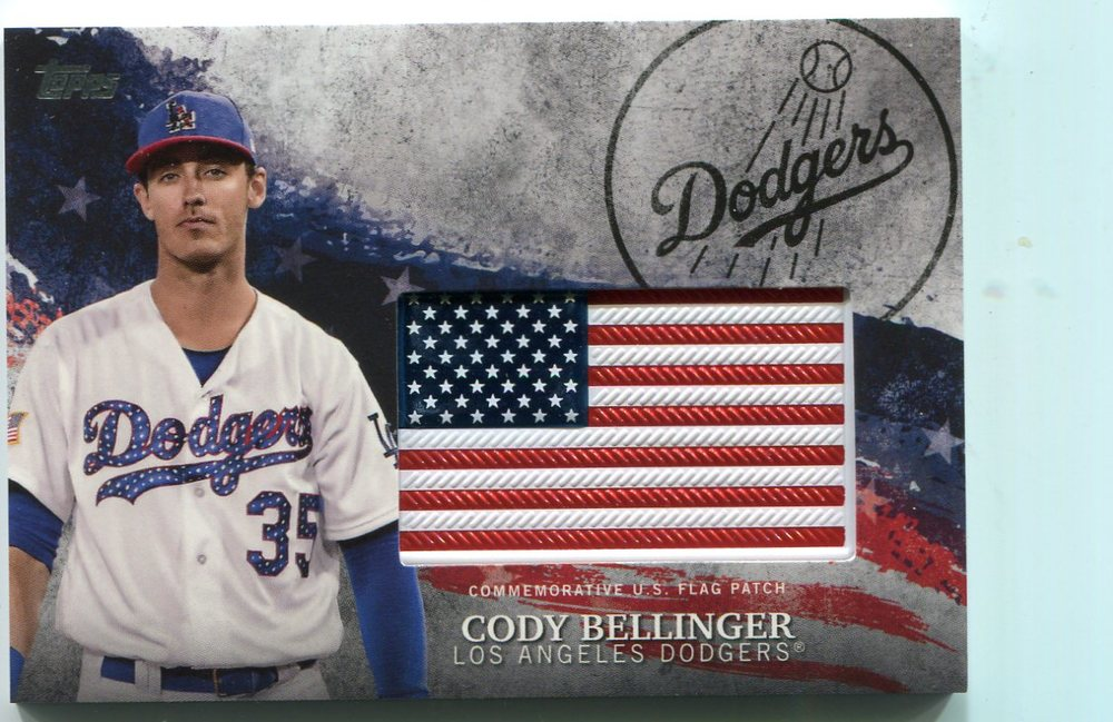 2018 Topps Independence Day U.S. Flag Relics #IDMLCB Cody Bellinger