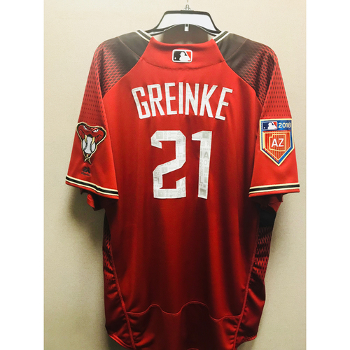 Photo of 2018 Zack Grienke Team-Issued Spring Training Jersey
