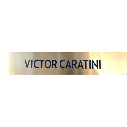 Photo of Victor Caratini Team-Issued Locker Nameplate -- 2017 Season