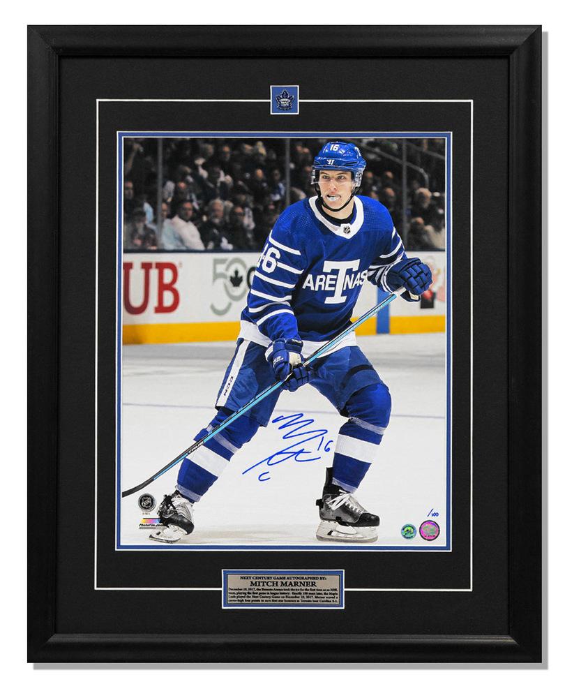Mitch Marner Toronto Arenas Autographed Next Century Game 25x31 Frame #/100