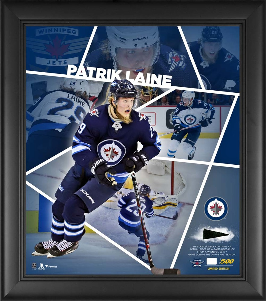 Patrik Laine Winnipeg Jets Framed 15'' x 17'' Impact Player Collage with a Piece of Game-Used Puck - Limited Edition 29 of 500