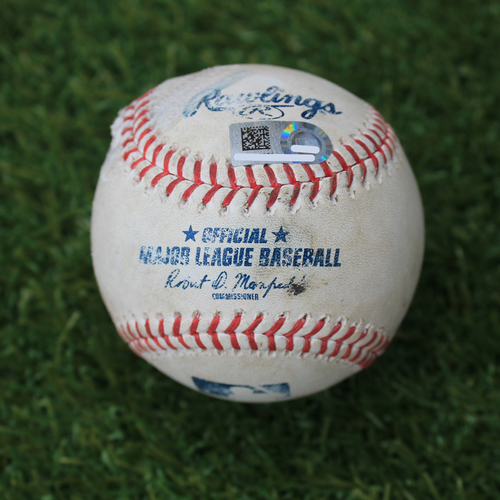 Photo of Game-Used Baseball: Chris Sale 1,890th Career Strikeout (BOS @ KC - 6/5/19)