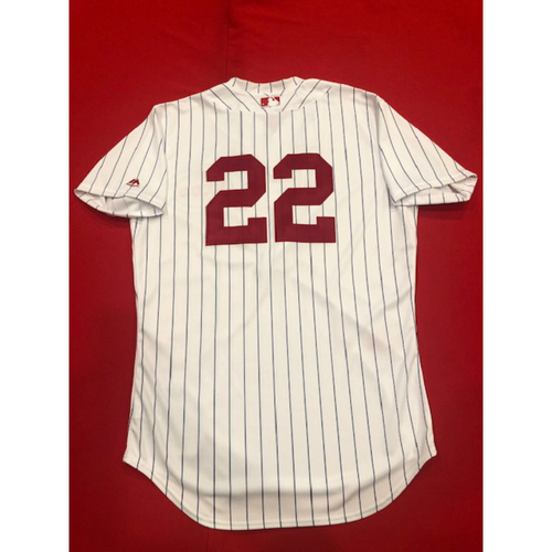 Photo of Derek Dietrich -- Game-Used Jersey -- 1919 Throwback Game -- Nationals vs. Reds on June 2, 2019 -- Jersey Size 44