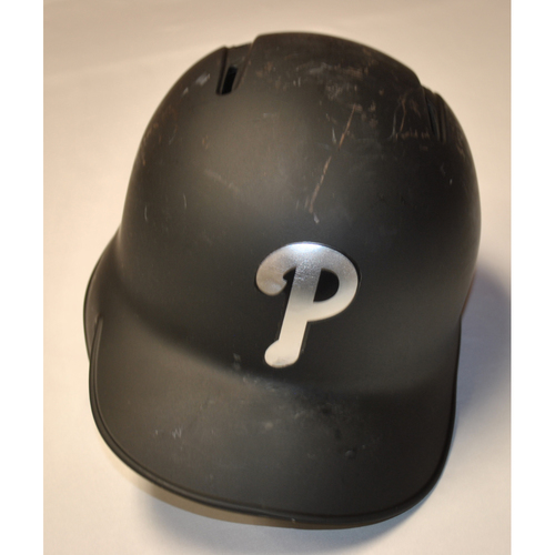 "Photo of Cesar ""CESITA"" Hernandez Philadelphia Phillies Game-Used 2019 Players' Weekend Helmet"