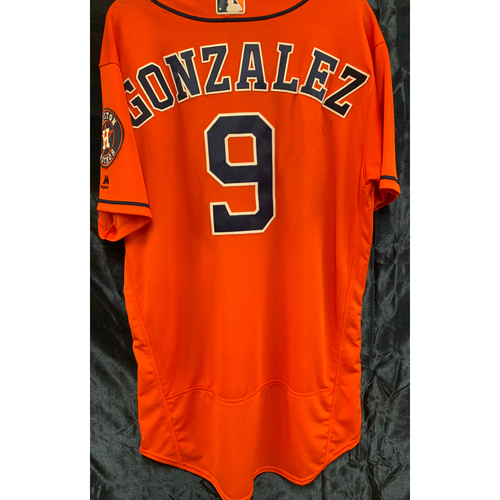 Photo of 2018 Marwin Gonzalez Game-Used Orange Alt Jersey (Size 46)