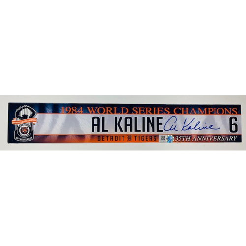 Photo of 2019 Autographed Locker Name Plate: Al Kaline