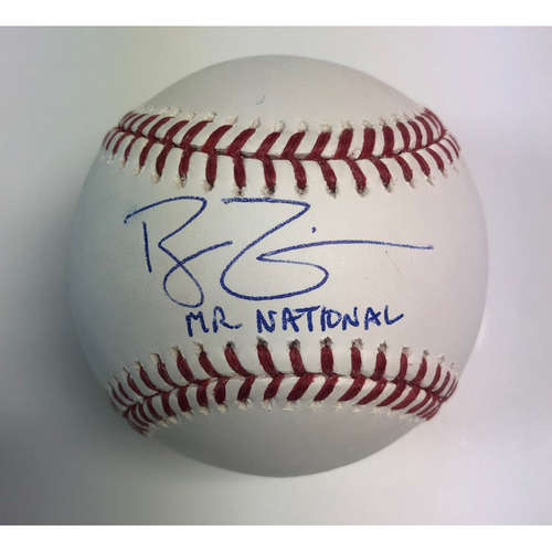 "Photo of Ryan Zimmerman Autographed ""Mr. National"" Baseball"