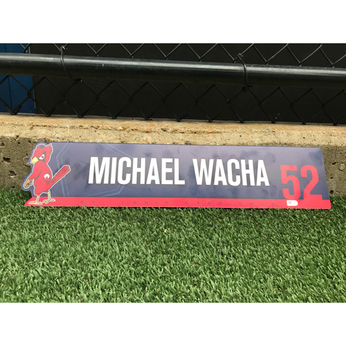 Photo of Cardinals Authentics: Game Used Michael Wacha Locker Tag from Second half of the Season