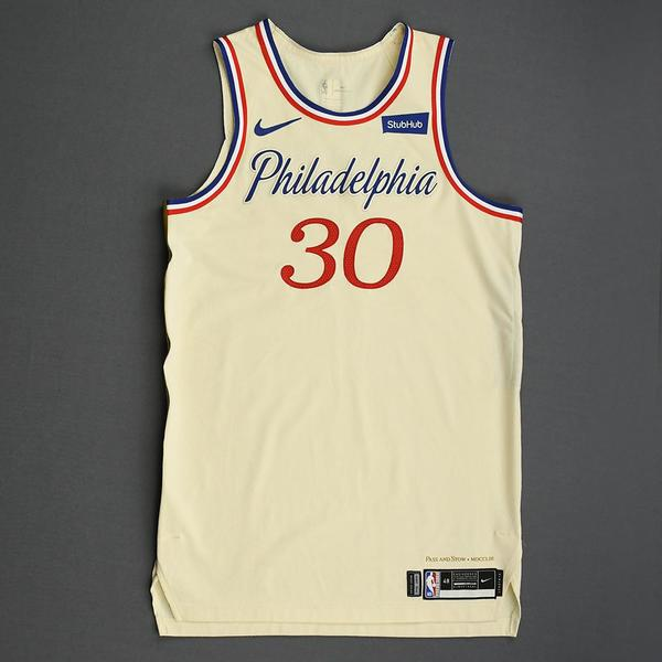 Image of Furkan Korkmaz - Philadelphia 76ers - Christmas Day' 19 - Game-Worn City Edition Jersey