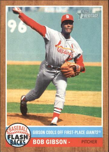 Photo of 2011 Topps Heritage Baseball Flashbacks #BF10 Bob Gibson