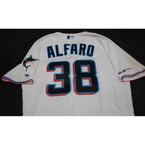 Photo of 2019 Game-Used Jersey: Jorge Alfaro #38 - Size 44 (Used 9/8/2019)