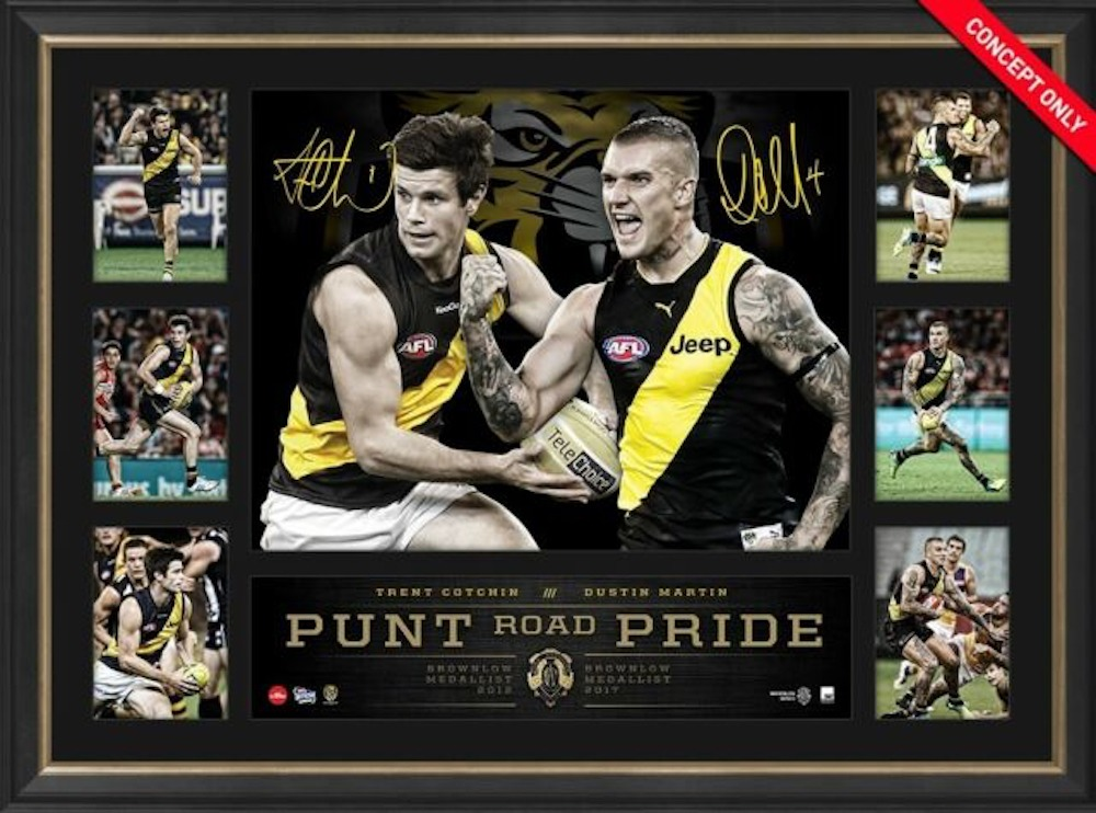 2017 Brownlow Cotchin and Martin Tribute Frame - Punt Road Pride