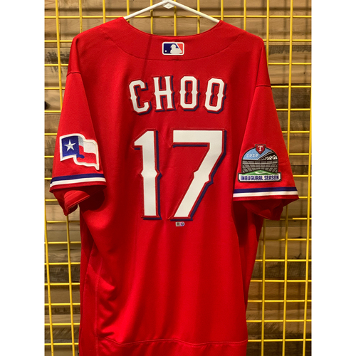 Photo of Shin-Soo Choo Team-Issued Red Jersey