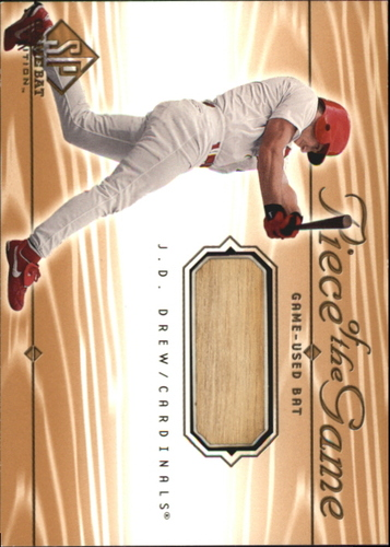 Photo of 2001 SP Game Bat Edition Piece of the Game #JD J.D. Drew