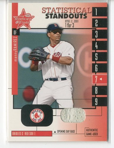 Photo of 2001 Leaf Rookies and Stars Statistical Standouts #SS25 Manny Ramirez Sox