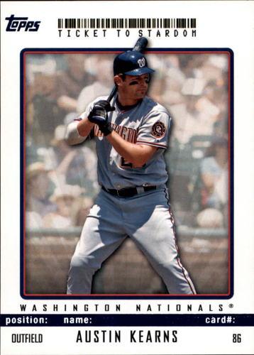 Photo of 2009 Topps Ticket to Stardom Blue #86 Austin Kearns