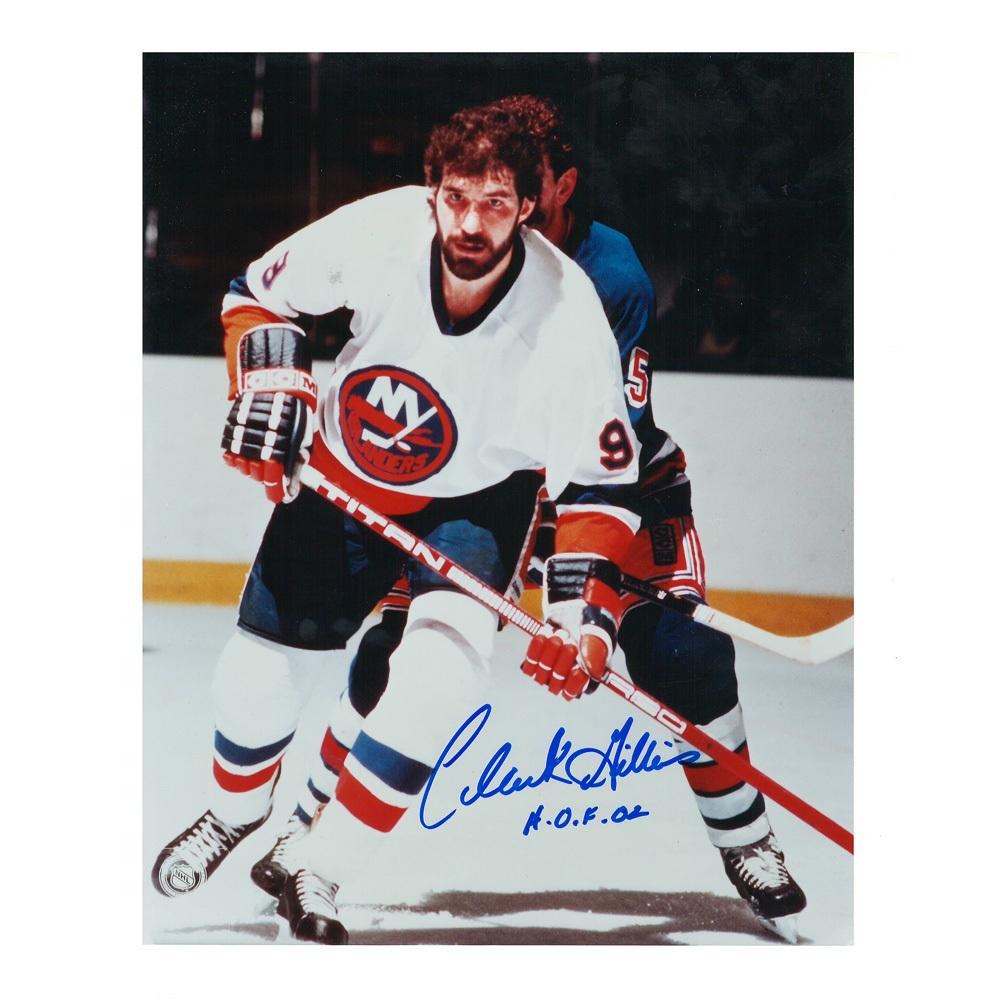 CLARK GILLIES Signed New York Islanders 8 X 10 Photo - 70169