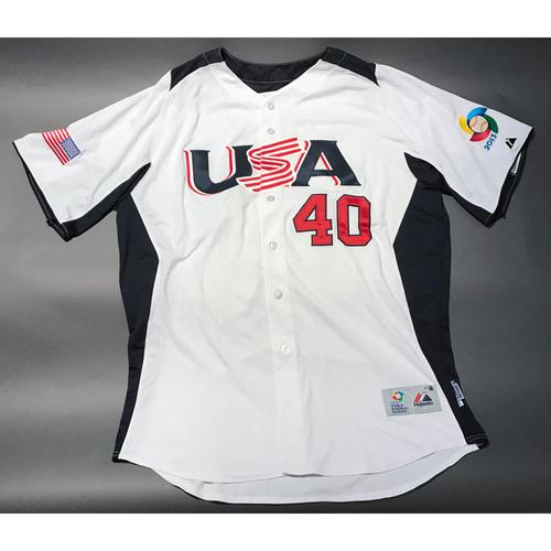 2013 World Baseball Classic Jersey - USA Jersey, Steve Cishek #40