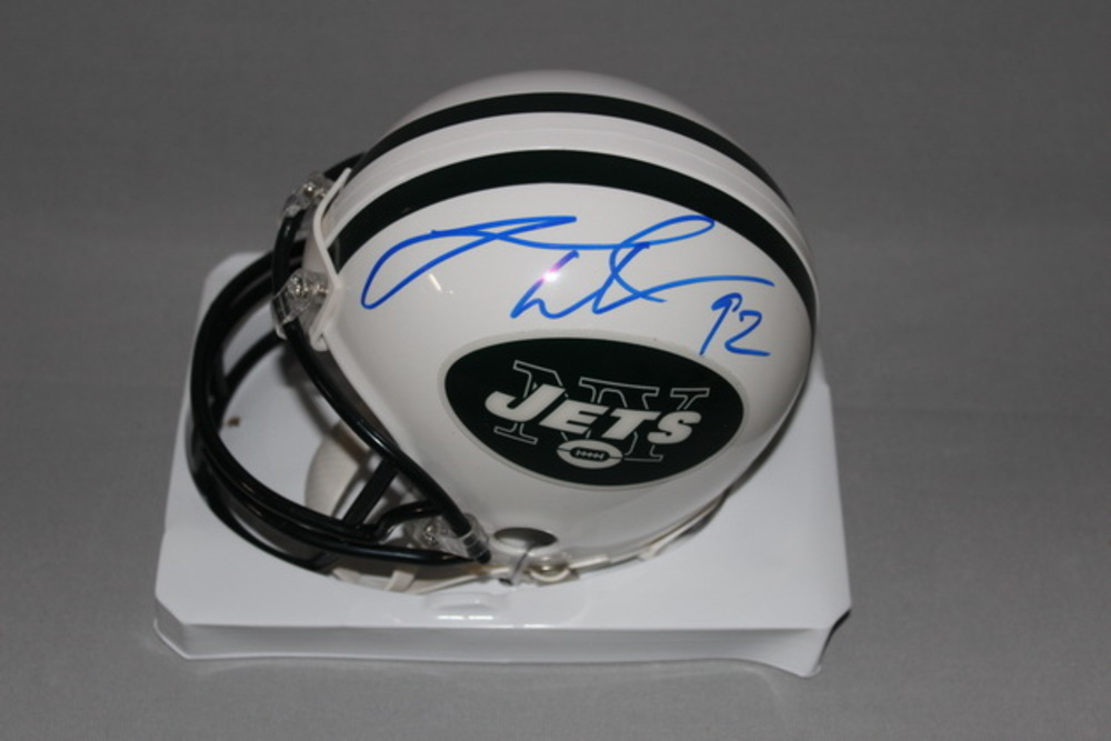 NFL - JETS LEONARD WILLIAMS SIGNED JETS MINI HELMET