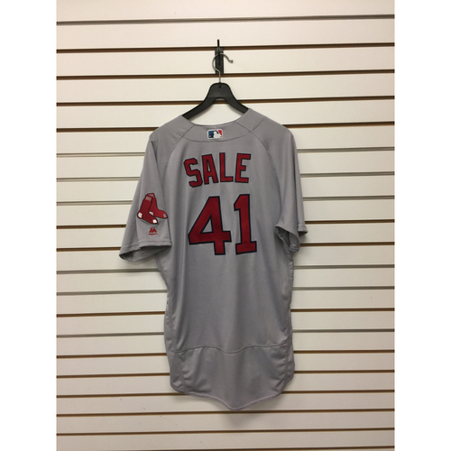 Chris Sale Game-Used April 10, 2017 Road Jersey - 7 2/3, 10ks