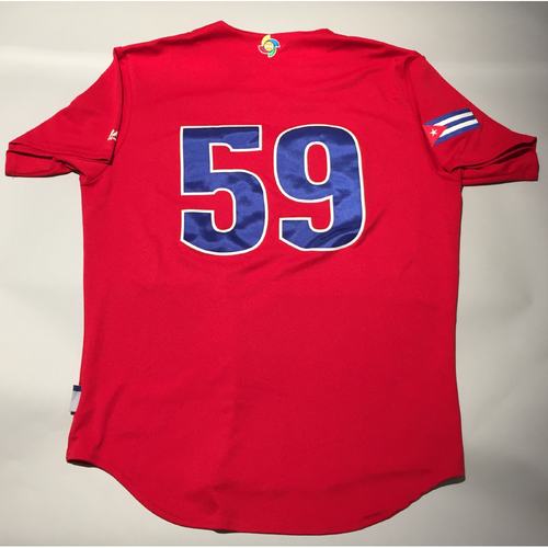 2017 WBC: Cuba Game-Used Batting Practice Jersey, #59