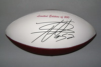 49ERS - PATRICK WILLIS LASER ENGRAVED PANEL BALL W/ 49ERS LOGO AND SUPER BOWL CHAMPIONS TEXT (INK MARKS ON PANEL)