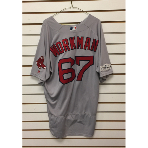 Photo of Brandon Workman Game-Used September 23, 2017 Road Jersey