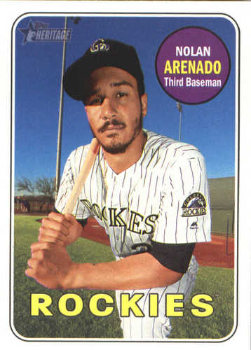 Photo of 2018 Topps Heritage #351 Nolan Arenado