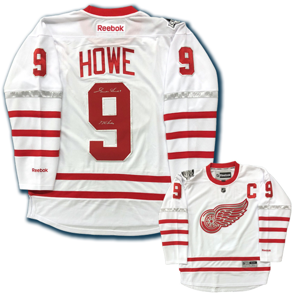 brand new 3c1e8 ab117 GORDIE HOWE Signed Detroit Red Wings Centennial Classic ...
