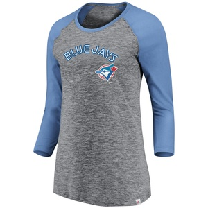 Toronto Blue Jays Women's Cooperstown 3/4 Sleeve Raglan by Majestic