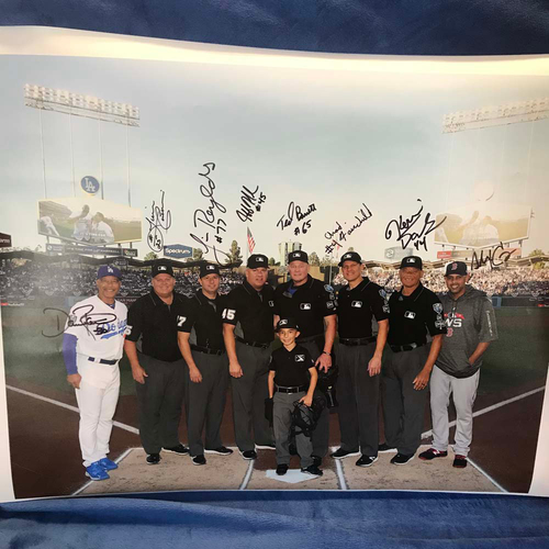Photo of UMPS CARE AUCTION: 2018 World Series Crew Signed Umpire Photo + Alex Cora & Dave Roberts
