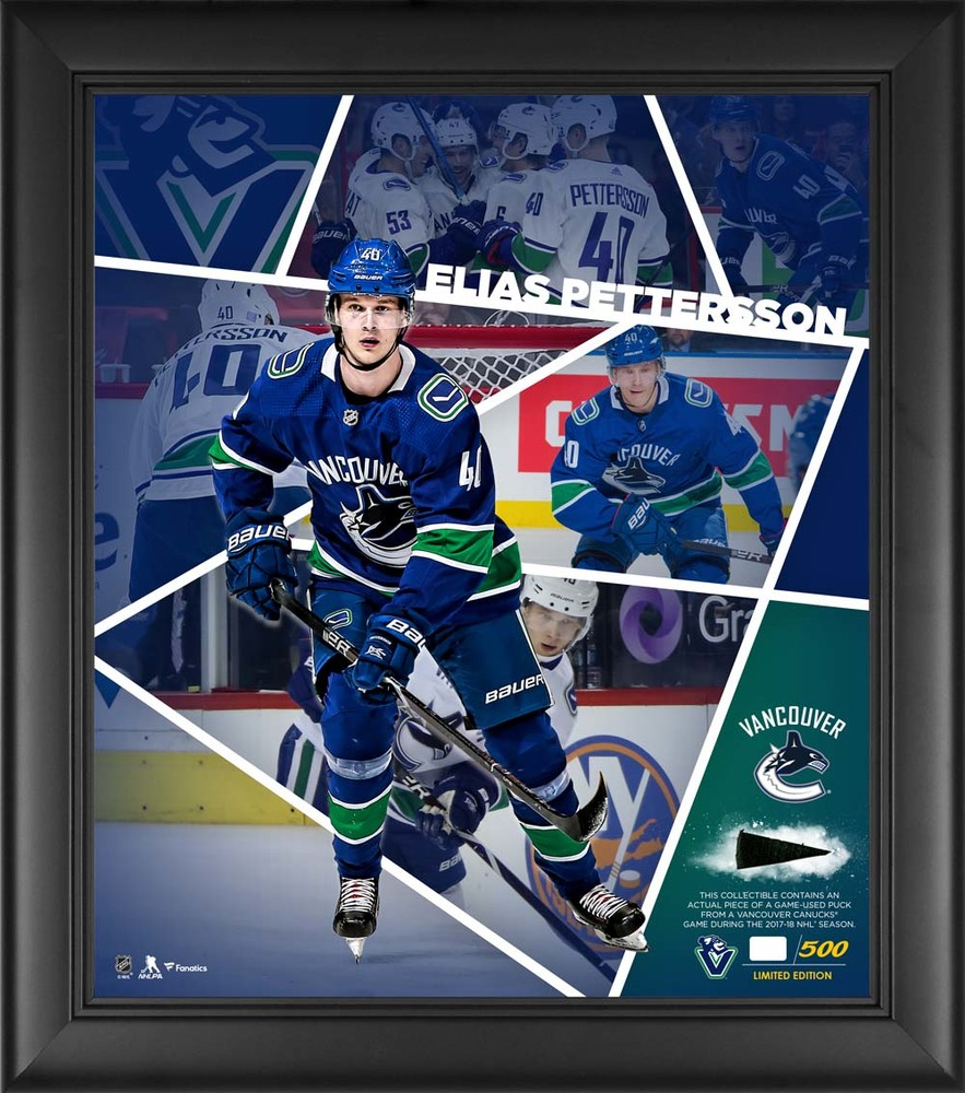 Elias Pettersson Vancouver Canucks Framed 15