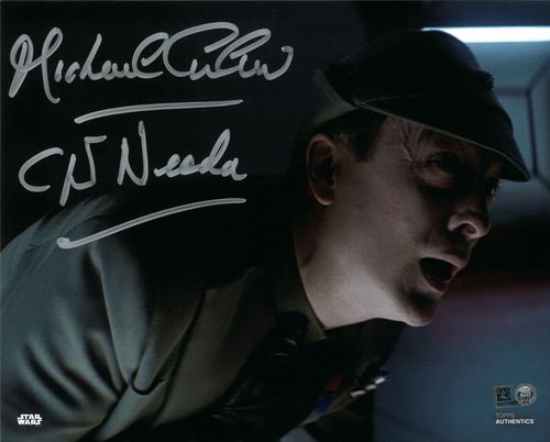 Michael Culver As Captain Needa  8X10 AUTOGRPAHED IN 'SILVER' INK PHOTO