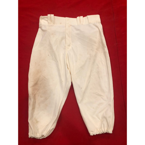 Jose Peraza -- Game-Used Pants -- 1902 (Starting SS) & 1912 Throwback Games (Starting 2B: Went 1-for-4, HR, 2 RBI, R) -- Size: 35-44-20