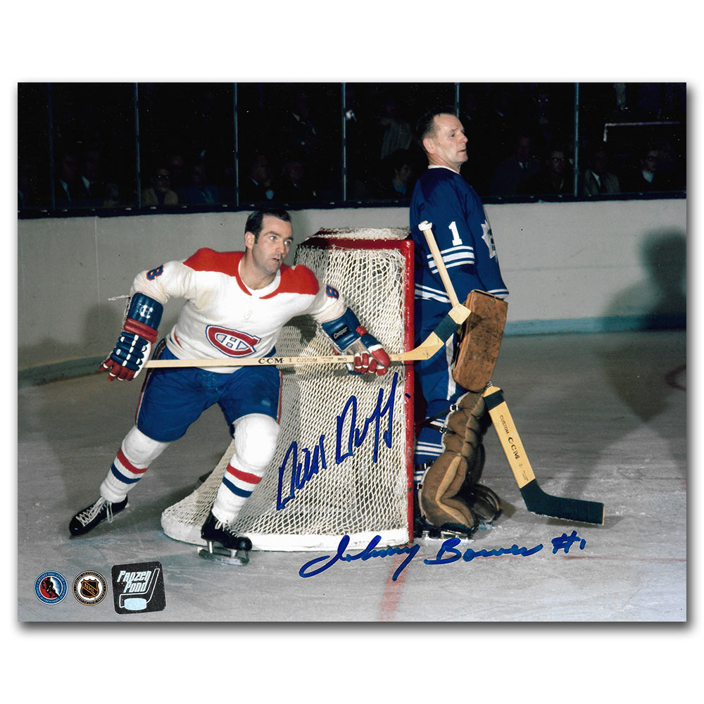 Johnny Bower & Dick Duff Autographed 8X10 Combo Photo
