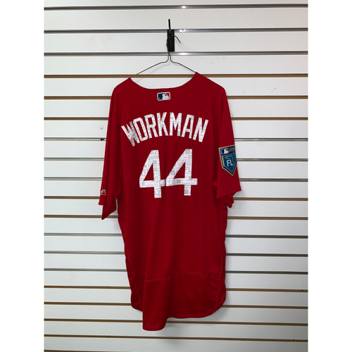 Photo of Brandon Workman Team Issued 2018 Spring Training Jersey