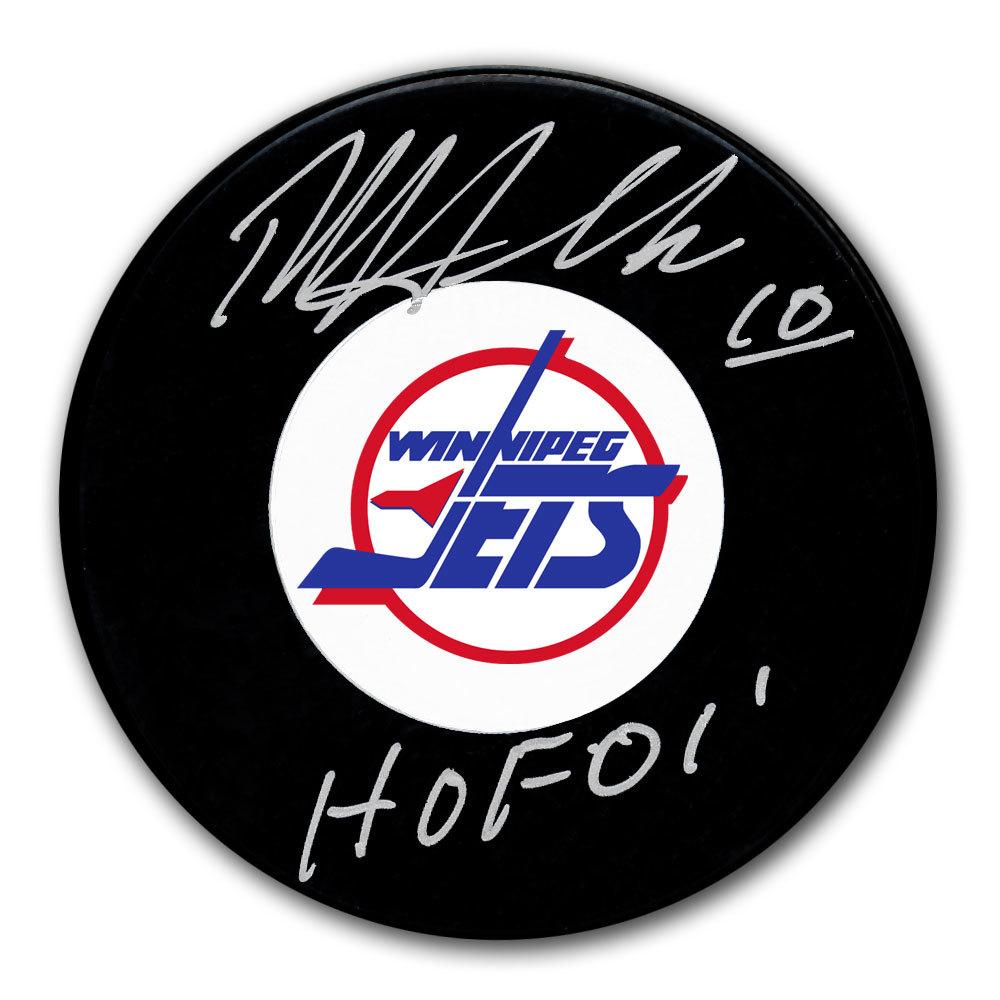 Dale Hawerchuk Winnipeg Jets HOF Autographed Puck