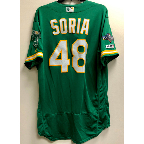 Photo of Joakim Soria Game-Used 2019 A.L. Wild Card Jersey  w/ Postseason Patch