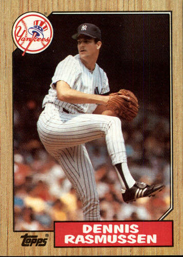 Photo of 1987 Topps #555 Dennis Rasmussen