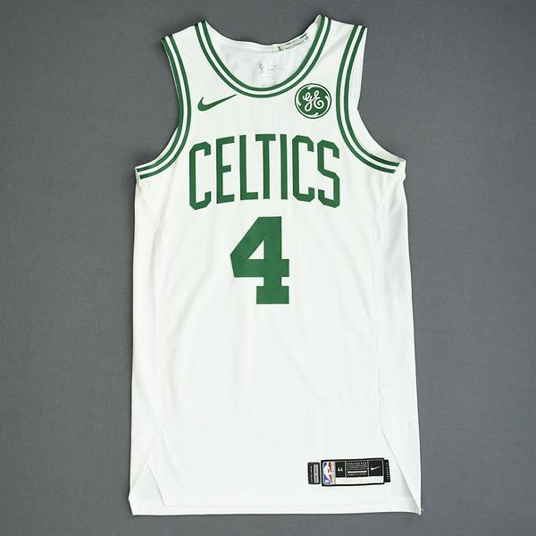 Image of Carsen Edwards - Boston Celtics - Game-Worn Association Edition Rookie Debut Jersey - 2019-20 Season