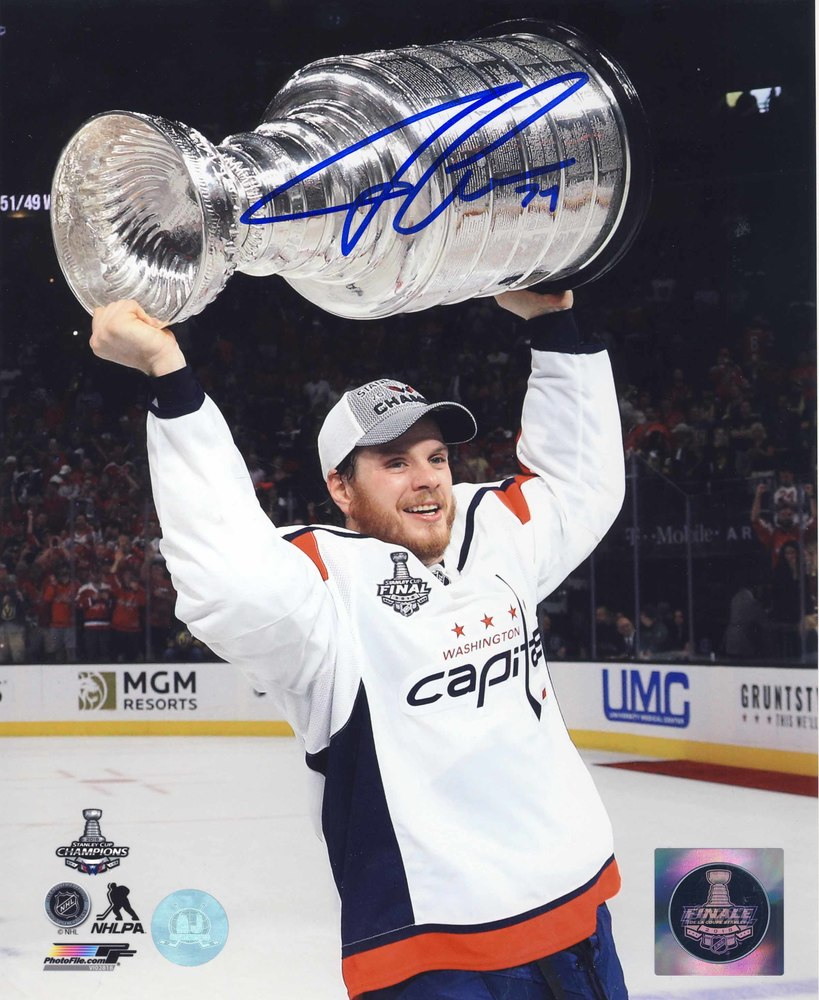 John Carlson Washington Capitals Autographed 2018 Stanley Cup 8x10 Photo
