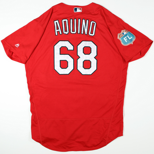 Photo of 2016 Spring Training - Spring Training Game Used Jersey - Jayson Aquino (Cardinals)- Size- 46