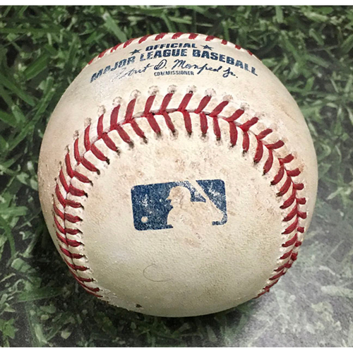 Photo of Game-Used Baseball SF@MIL 09/09/18 - Mark Melancon - Christian Yelich: Single