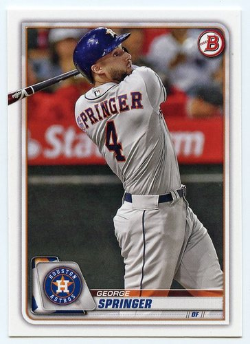 Photo of 2020 Bowman #41 George Springer